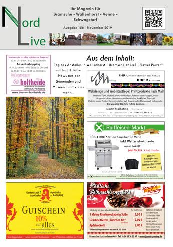 Nord live November 2019 Tier + Wir Verlag Wallenhorst Bramsche Ostercappeln