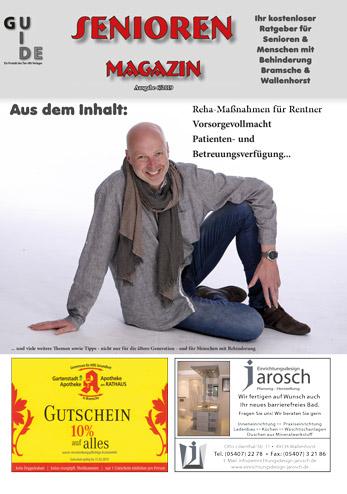 Jährlich direkt in die Briefkästen der Wallenhorster und Bramscher Bürger: Das SeniorenMagazin.