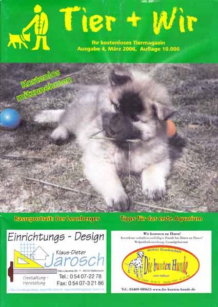 Zeitschrift Tier + Wir